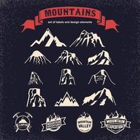 Mountains vector icons design