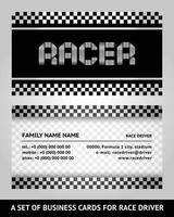 Race driver Business card vector