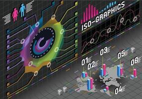 infographic flower histogram vector