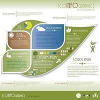 Eological  infographic vector