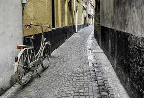 Typical bicycle in Bruges photo