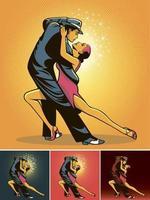Couple dance vector illustration