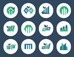 logotipo de bienes raíces o logotipo de propiedad de la vivienda o logotipo de edificio de vivienda vector