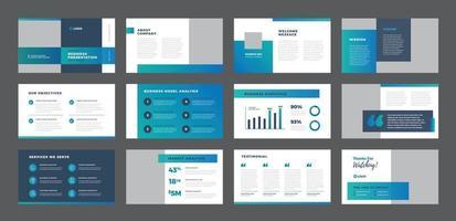 Business Presentation Brochure Guide Design or Pitch Deck sales slider vector