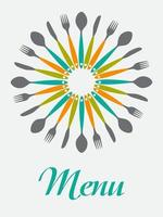 Restaurant Menu Background  Template Vector Illustration