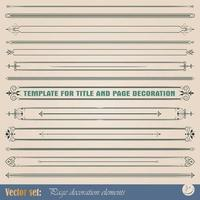 Border decoration elements design vector