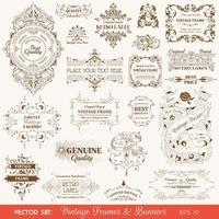 diseño de elementos caligráficos vintage vector