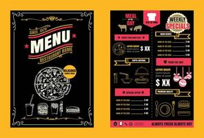 Brochure or poster Restaurant  food menu vector format