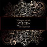 abstract invitation card design vector