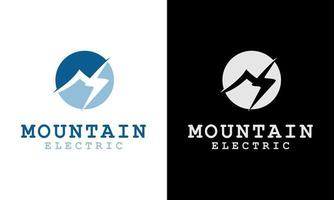 Ilustration vector graphic of  Creative Mountain Concept Cloud Electrical icon logo lightning thunder bolt flash