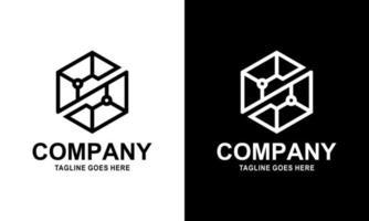 Modern creative letter S logotype. Abstract hexagon logo. Creative dynamic round logotype. Connection symbol. vector