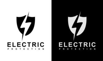 Ilustration vector graphic of  Security Electrical Protection logo template lightning thunder bolt flash