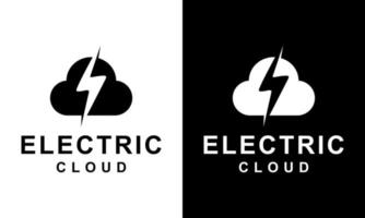 Ilustration vector graphic of  Logo template Cloud Electrical lightning thunder bolt flash