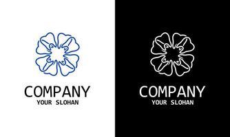 Emblem luxury beauty spa, cosmetics, jewelry, hotel, restaurant. Wedding elegant outline frame. Vector floral luxury curve logo design. Vintage premium design vector element.