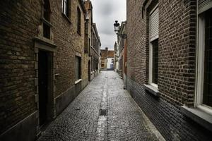 Typical Bruges alley photo