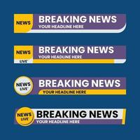 Set of lower third graphic template. TV banners for news. vector