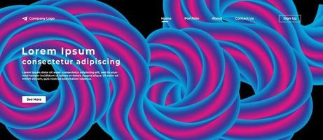 Abstract Fluid Background for Website vector