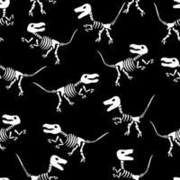 Dinosaur skeleton seamless. vector
