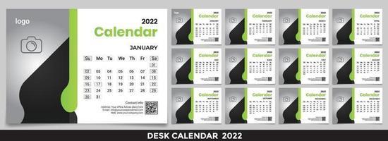 Free Desk Calendar 2022 Template Design Idea, Calendar 2022, 2023 vector