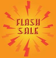 Flash sale design for promotions vector