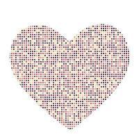 Tarjeta del día de San Valentín con ilustración de vector de corazón