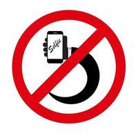 Flat Selfie Icon Vector Illustration