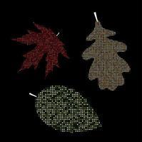 Autumn Leaves Labels Vector Illustration