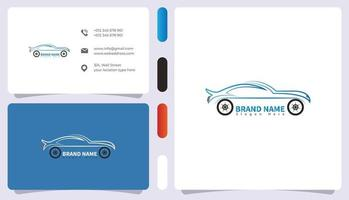 Car logo with business card template vector