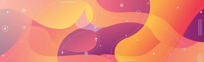 Abstract bright background, multicolored wavy lines - Vector