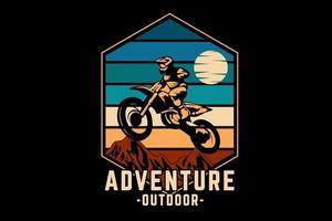 aventura al aire libre silueta diseño estilo retro vector