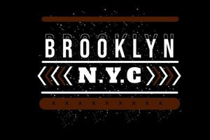 brooklyn new york city typography design vector
