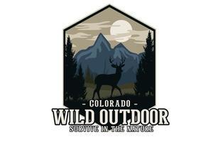 wild nature flat illustration design vector