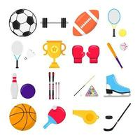 Sport gaming composition set with balls. vector