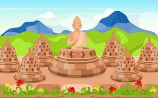 Buddha flat vector illustration