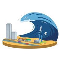 Typhoon cartoon vector illustration