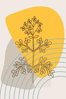 common rue, abstract, poster, minimal vector