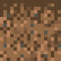 Pixel minecraft style land background vector
