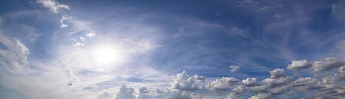 Panorama, sky and clouds in the daytime photo