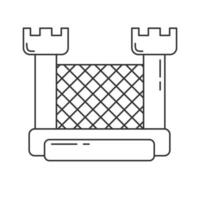 Bouncy castle outline icon. Jumping house on kids playground. vector