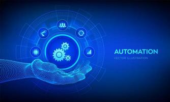 IOT and Automation Software concept as an innovation. vector