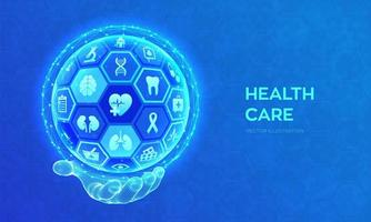 Health care and medical services concept. Emergency service Healthcare vector