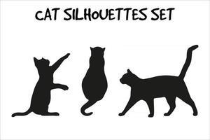 vector - siluetas de gato