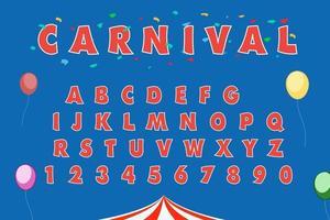 Carnival Set Alphabet Eps Vector