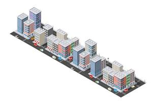Isometric urban megalopolis top view of the city vector