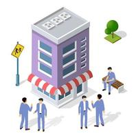 People walking around the city businessman business man isometric vector