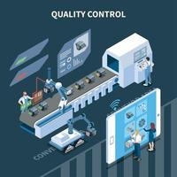 Quality Control Isometric Composition Vector Illustration