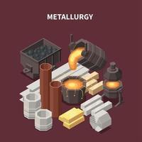 Metallurgy Commodity Isometric Composition Vector Illustration