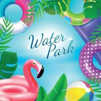 Water Rubber Toys Background Vector Illustration