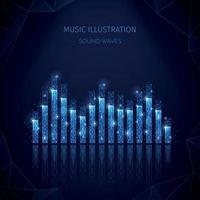 Equalizer Music Media Composition Vector Illustration