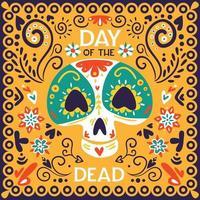 Ilustración de vector de cartel de día muerto México